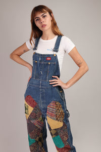 90s Dickies Patchwork Overalls