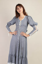 70s Gunne Sax Juliet Sleeve Gingham Dress