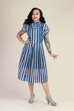 40s Striped Dress With Ascot Tie