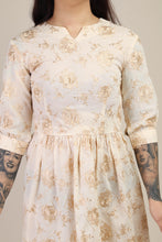 50s Bronze Embroidered Dress