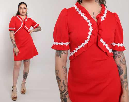 50s Satin Collar Dress