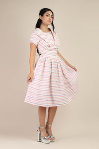 50s Pink & Purple Dress