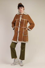 70s Suede Sherpa Lined Ranch Coat