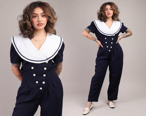 80s Nautical Jumpsuit