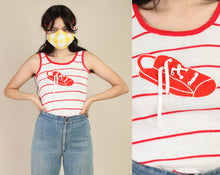 80s Sneaker & Shoe Lace Tank Top