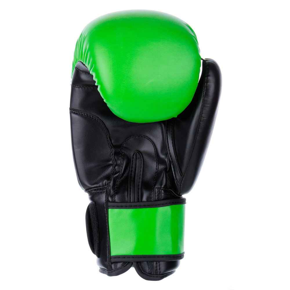 PU Basic Fighter Gloves - neon green/black