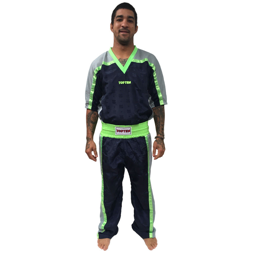 Top Ten Mesh uniform - blueNavy/grey/neon green