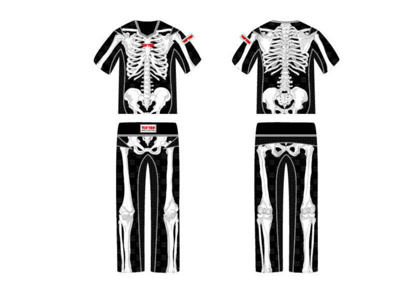 Top Ten SKELETON Energy Fighter uniform - black/white