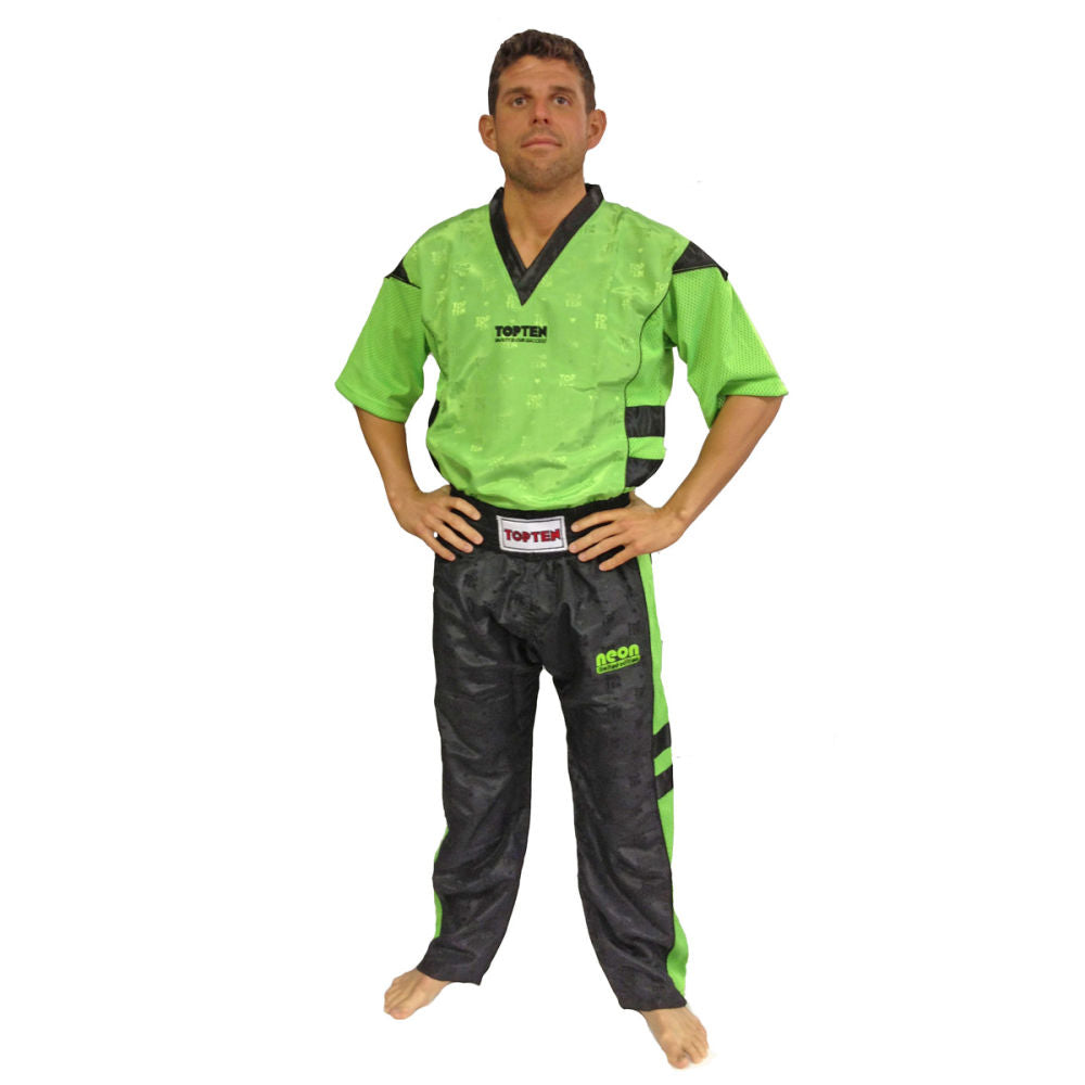 Fight suit TOP TEN -uniform- neon green/black