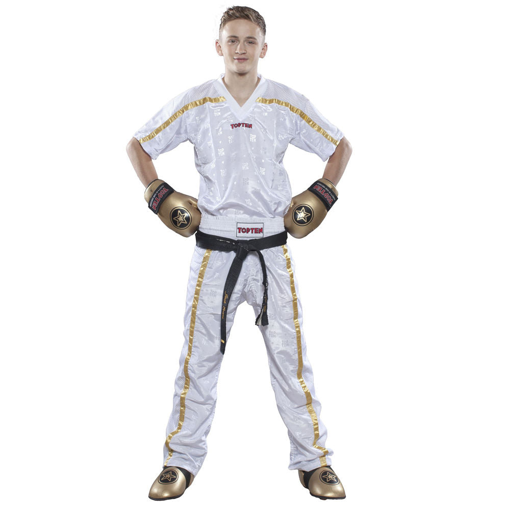 Top Ten White White Mesh uniform 1605 model - white/gold