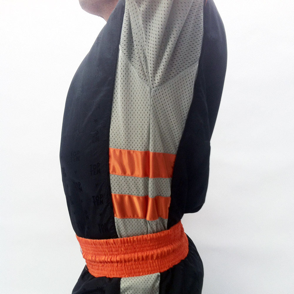 Fight TOP TEN uniform - black/grey/neon orange