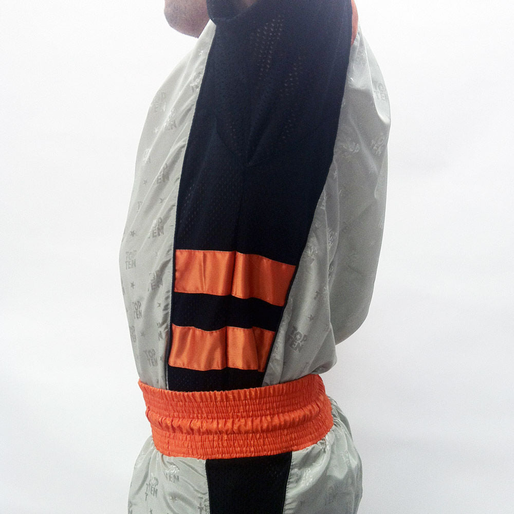 Fight TOP TEN uniform- grey/black/neon orange