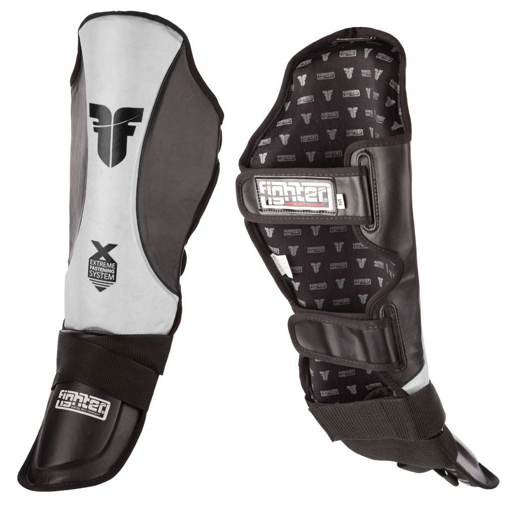 Fighter EFS Shinguard - white/black
