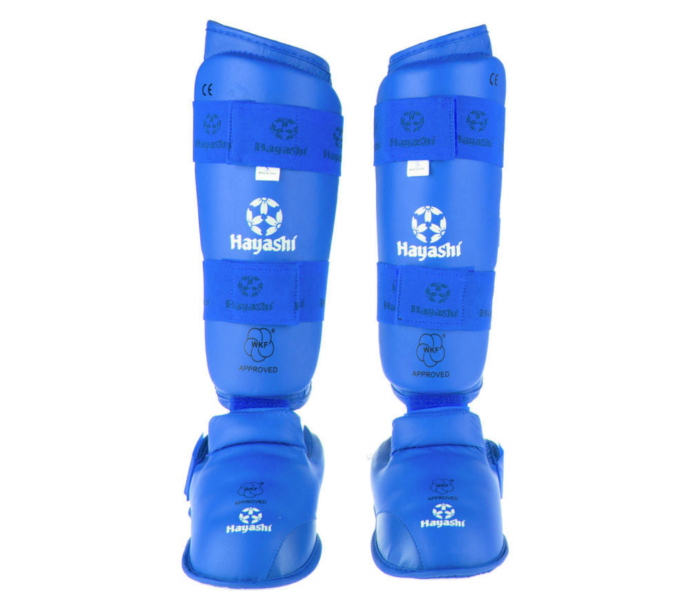 Hayashi WKF Foot and shin protection - Blue