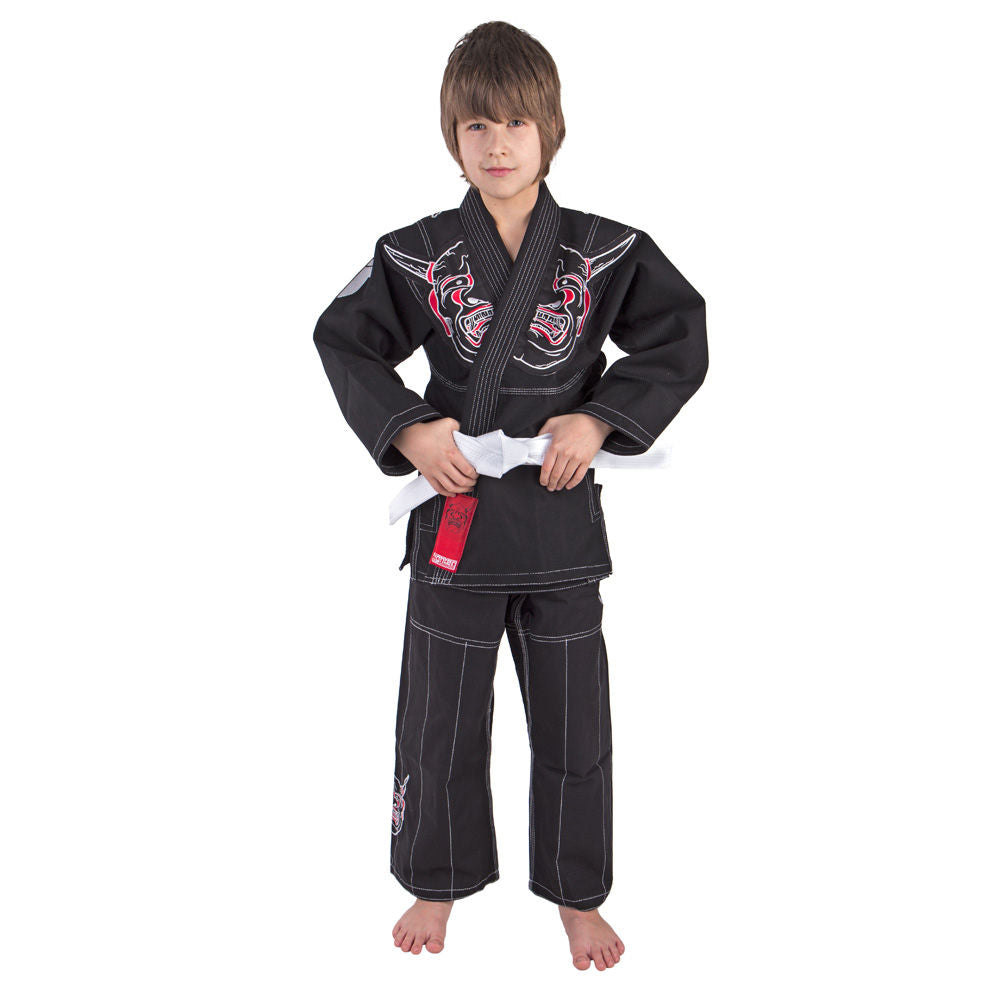 Fighter KIDS BJJ Gi Demon Uniform - black