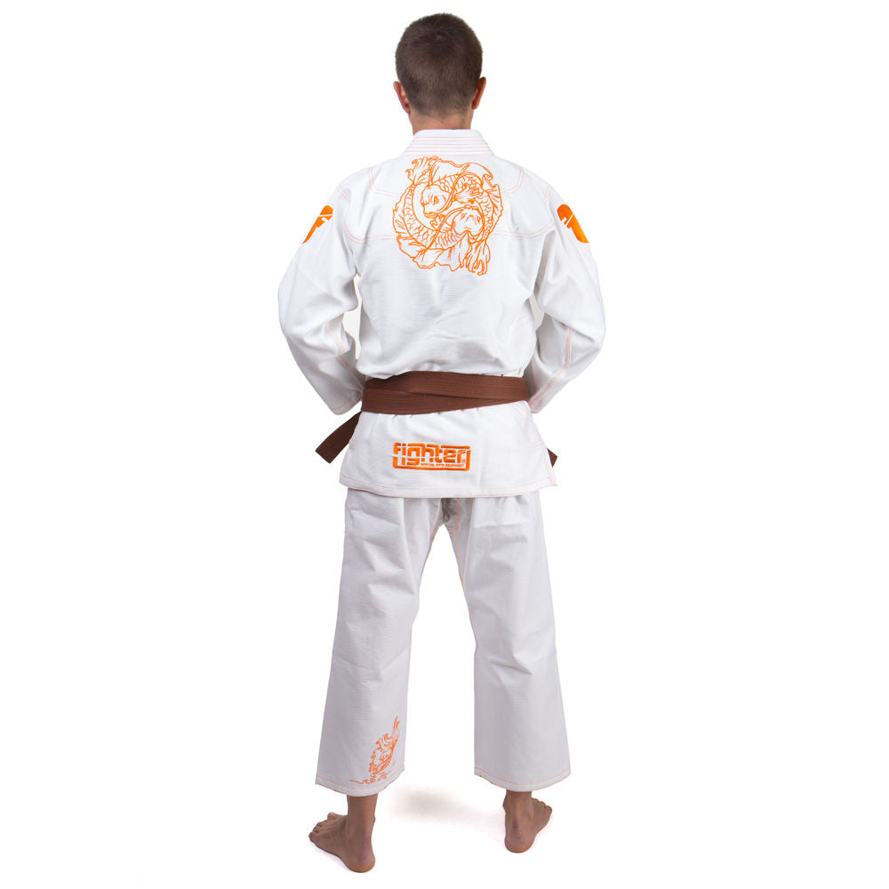 Fighter KIDS BJJ Gi Koi Fish Uniform - white