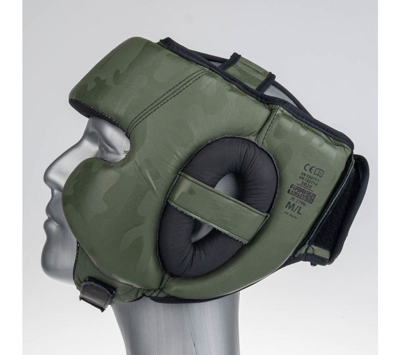 Headguard Fighter Sparring Pro - khaki/camo