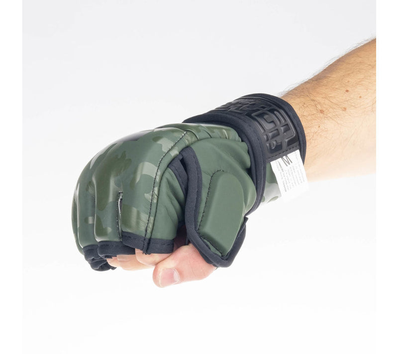 MMA gloves Fighter Competition - khaki/camo