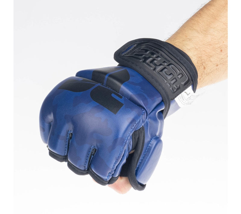 MMA gloves Fighter Competition - blue/camo