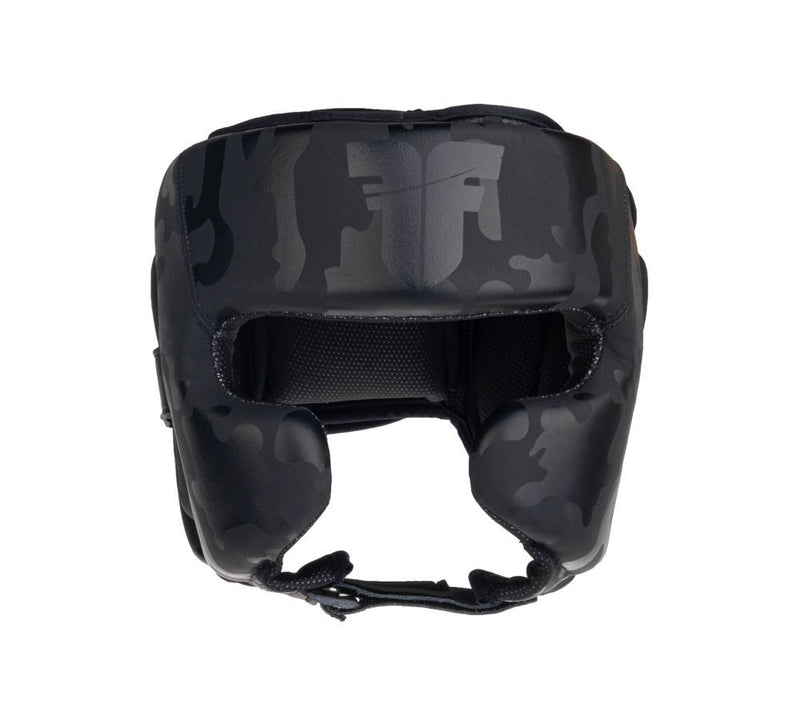 Headguard Fighter Sparring Pro - black/camo