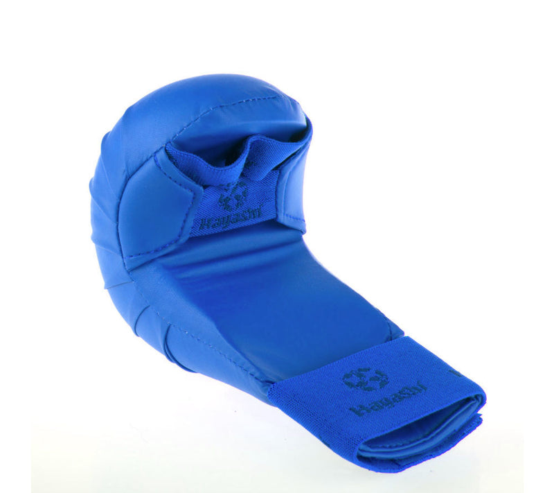 Hayashi WKF Open-Hand Karate Fist Protection Gloves - Blue