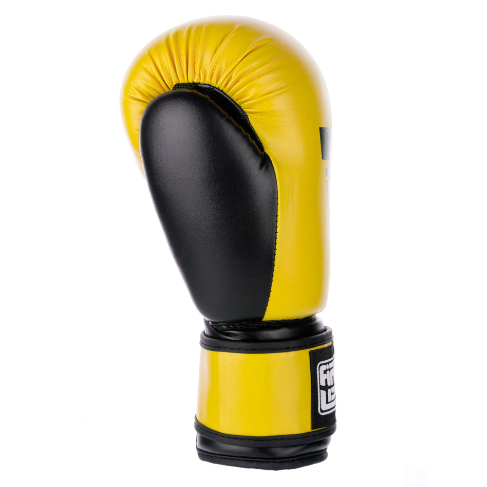 PU Basic Fighter Gloves - yellow/black