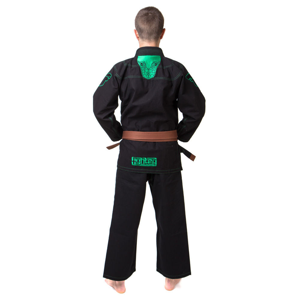 The Fighter SERPENT Ripstop BJJ Gi Uniform - black