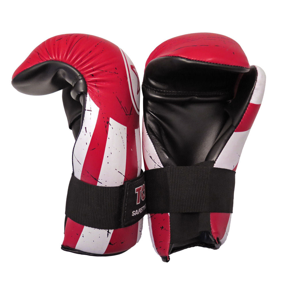 TOP TEN Energy line Red/White/Black RISING SUN Open Hand Point Gloves