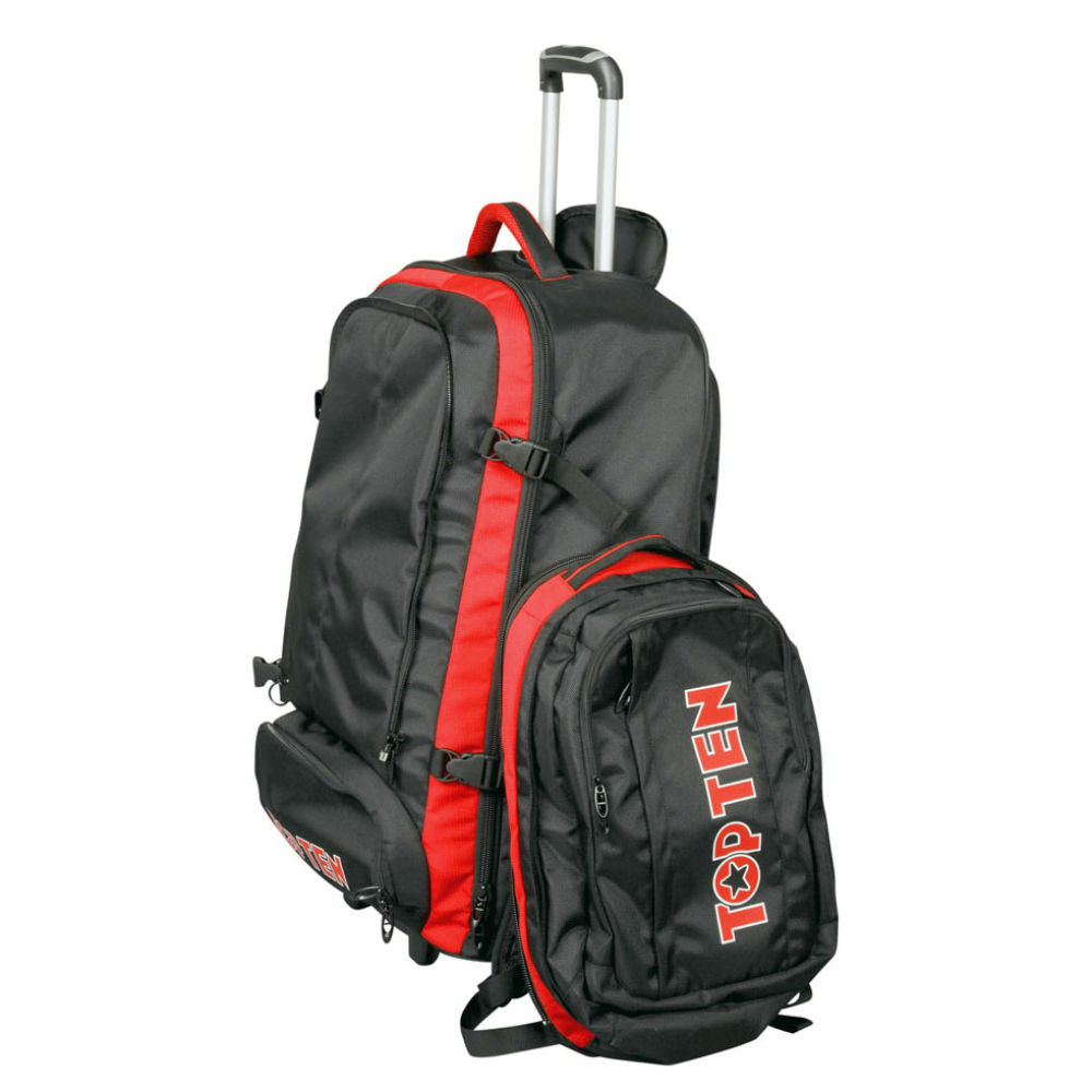 TOP TEN Backpack with tires - black/red