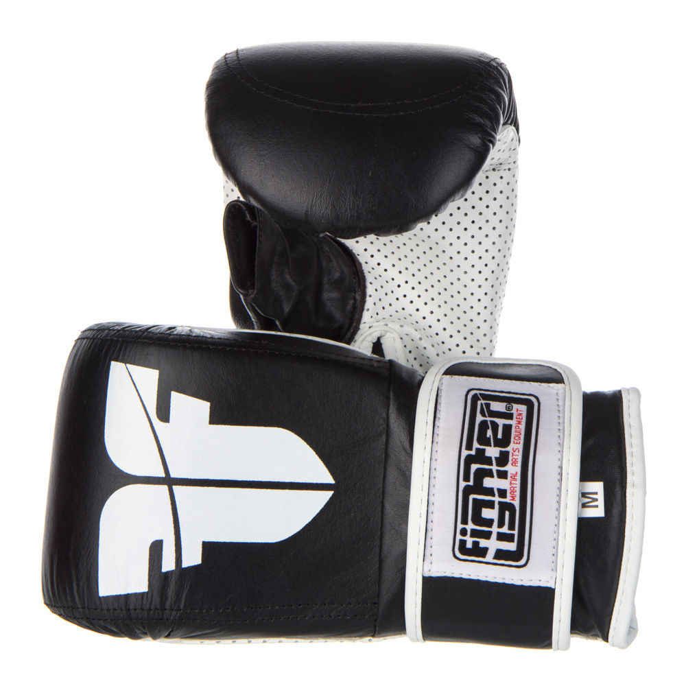 Bag Gloves Fighter Velcro - black/white