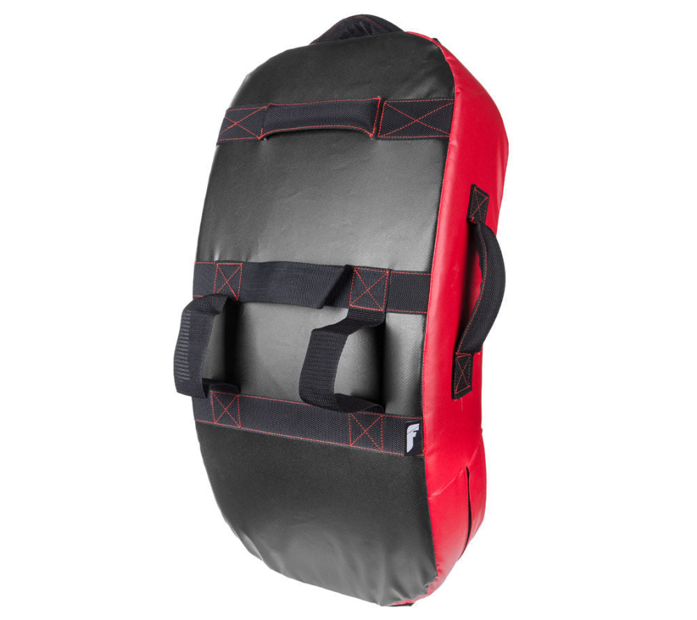 Fighter Curved Kicking Shield - MULTI GRIP - black/red