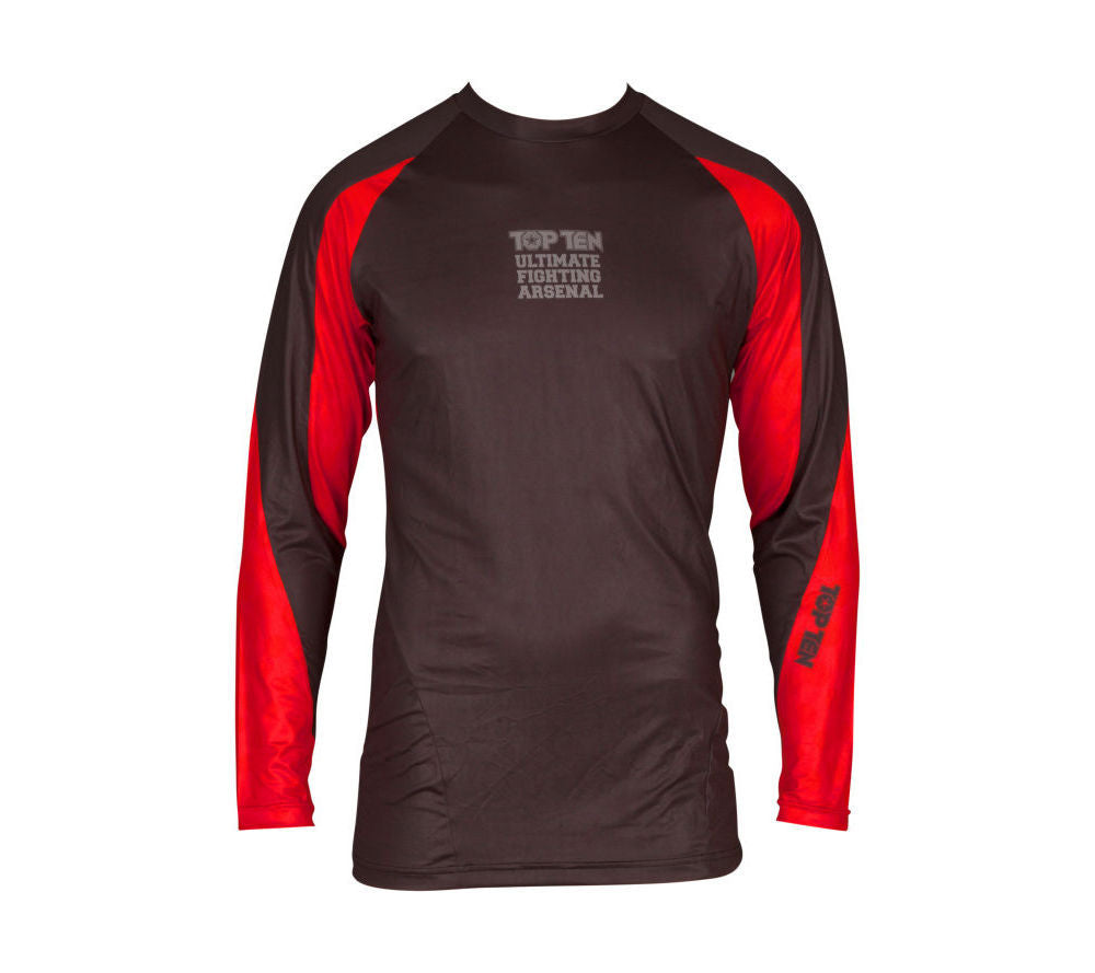 Top Ten MMA UFA Rashguard - black/red