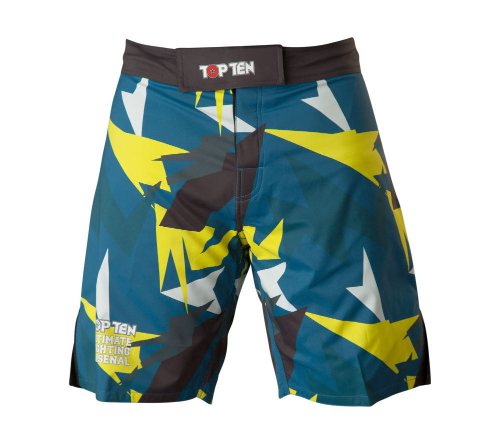 Top Ten MMA Shorts Jungle - blue/black/yellow