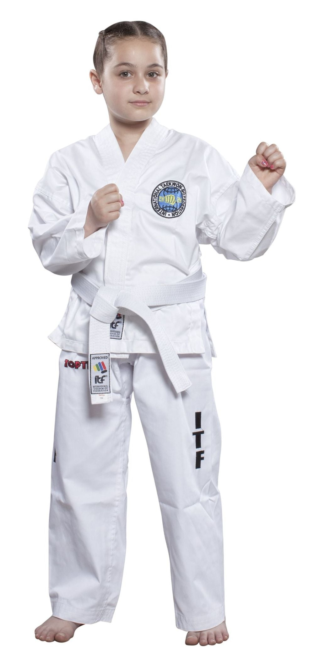 Top Ten ITF KYONG student uniform - Embroidered - White Dobok