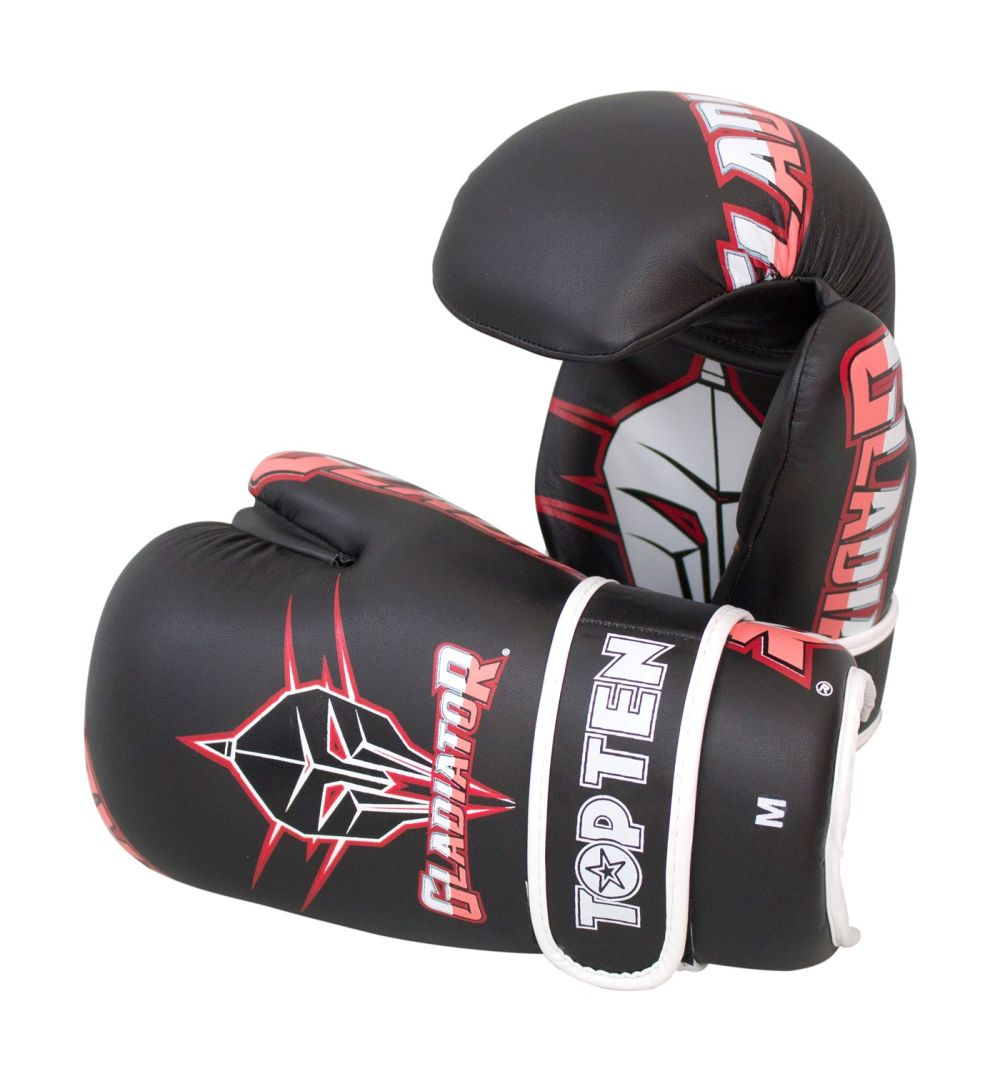 TOP TEN Gladiator Open Hand Black/Red/Pink/White Martial Arts gloves