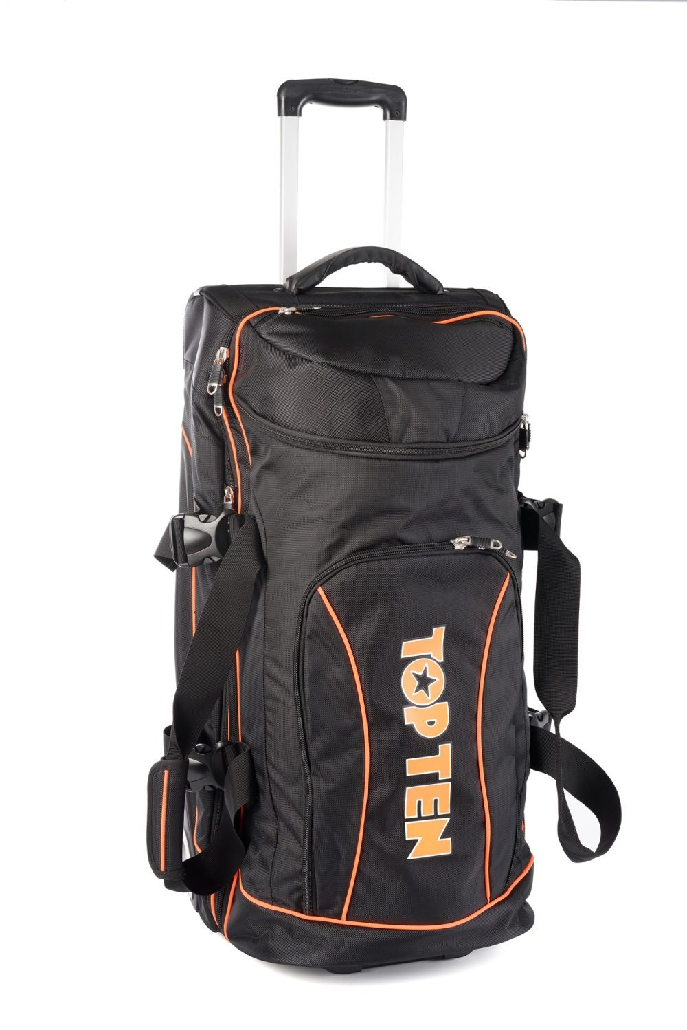 TOP TEN Trolley bag - black/orange