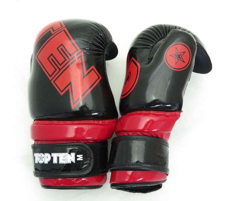Top Ten New Edition Point-Stop Martial Arts Gloves Black/Red