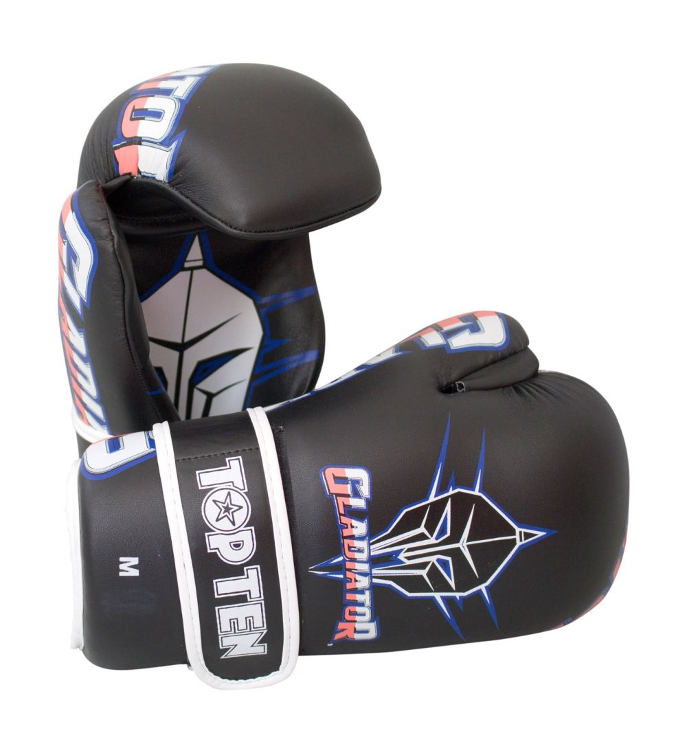TOP TEN Gladiator Open Hand Black/Blue/Pink/white Martial Arts Gloves