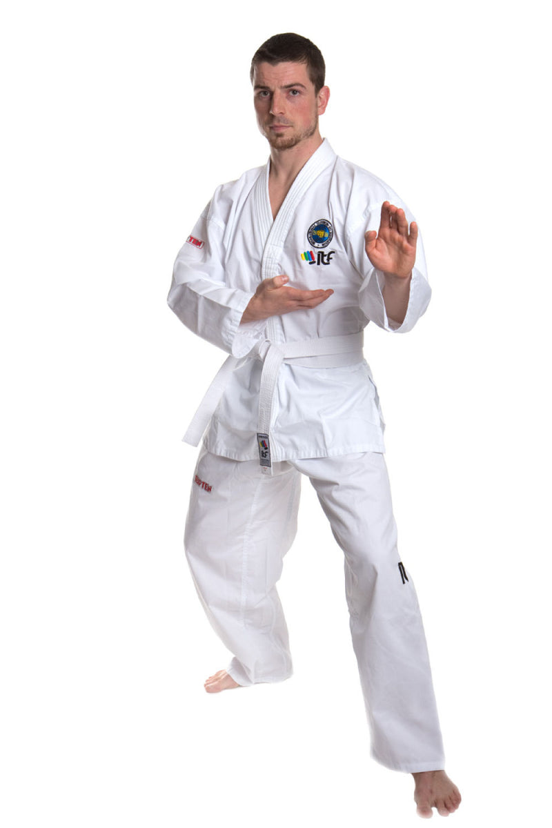 TOP TEN ITF Student Taekwon-Do Uniform - De Luxe - White Dobok