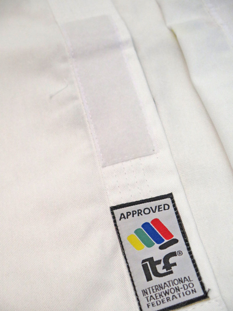 TOP TEN ITF KYONG student uniform - Embroidered White TKD Dobok