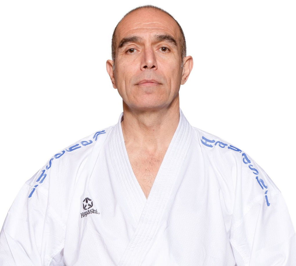 "Hayashi Karate Gi ""Air Deluxe"" - BLUE Embroidery"