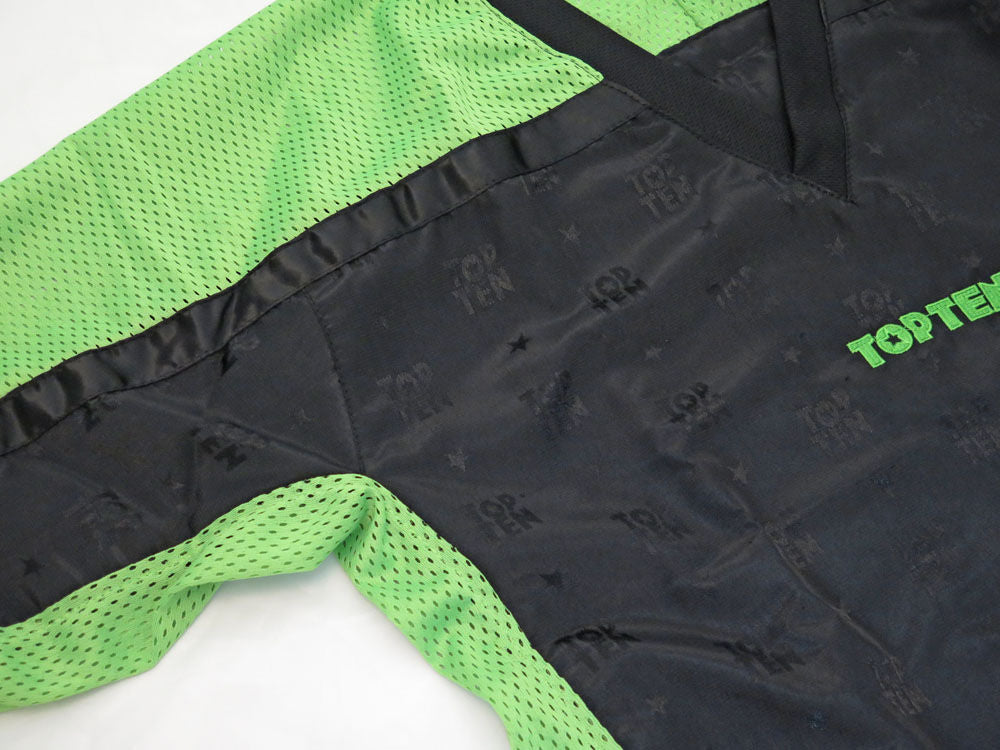 Top Ten Mesh uniform 1605 model - Black/Neon green