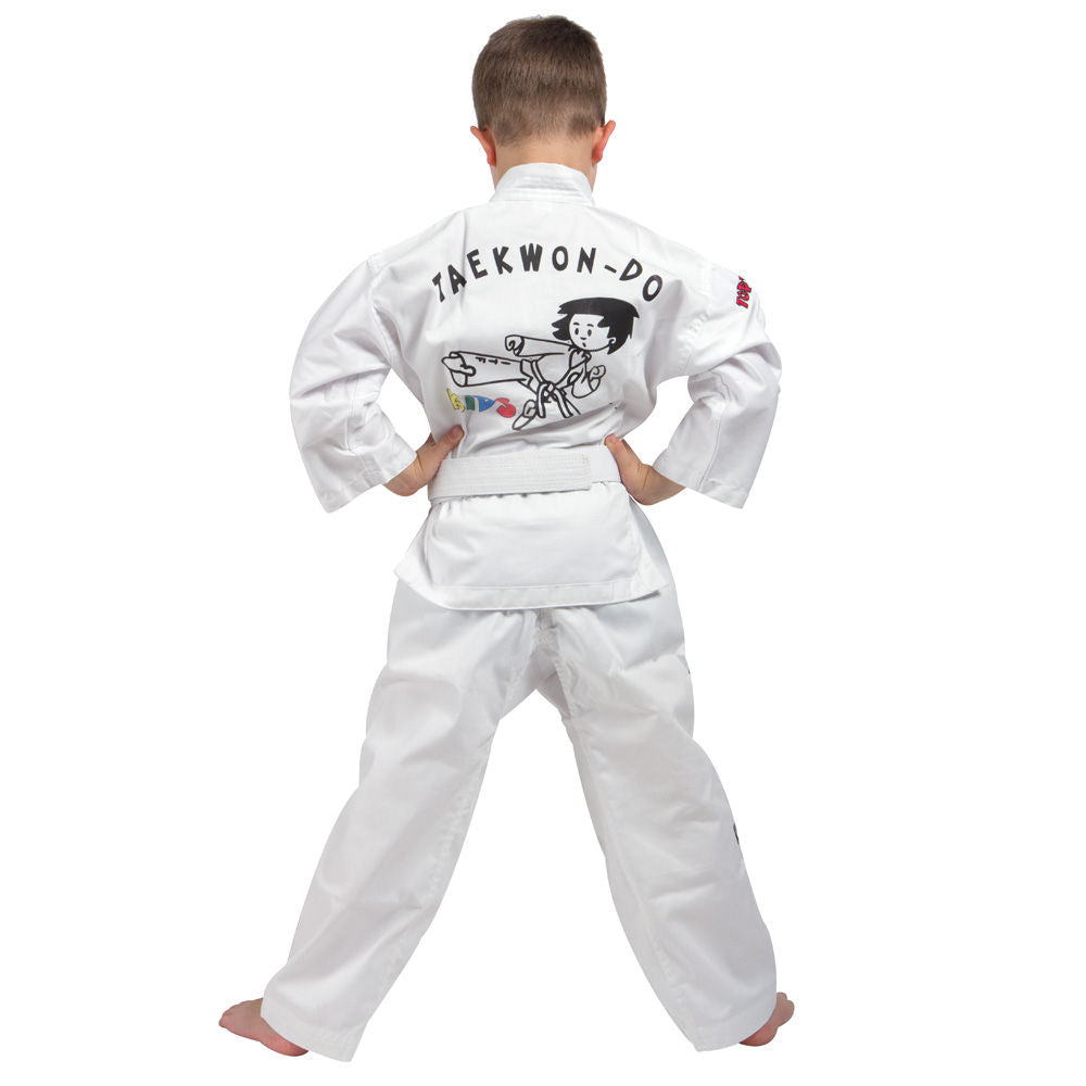 Top Ten Dobok Uniform - KIDS - White Cotton/Polyester SPE