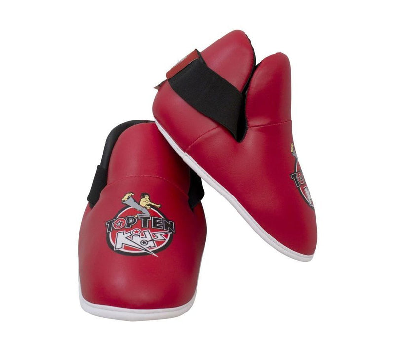 Top Ten Foot Protectors - Kids - red