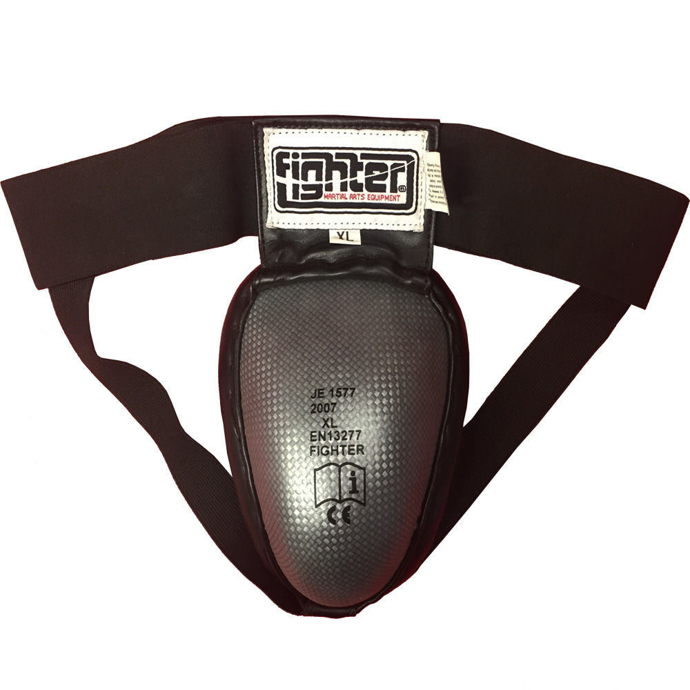 Fighter Steel Groin Guard grey/negro