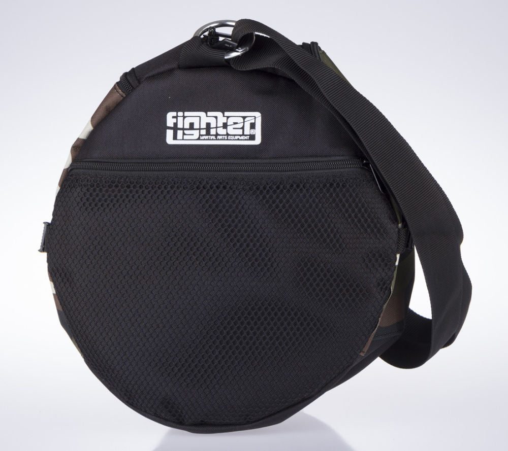 Fighter Round Shoulder Bag - black/camo