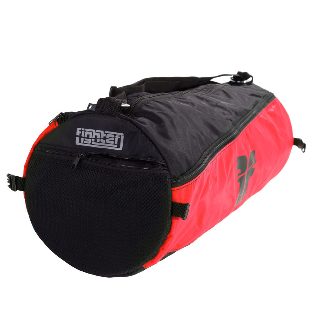 Fighter Round Shoulder Bag - red/black