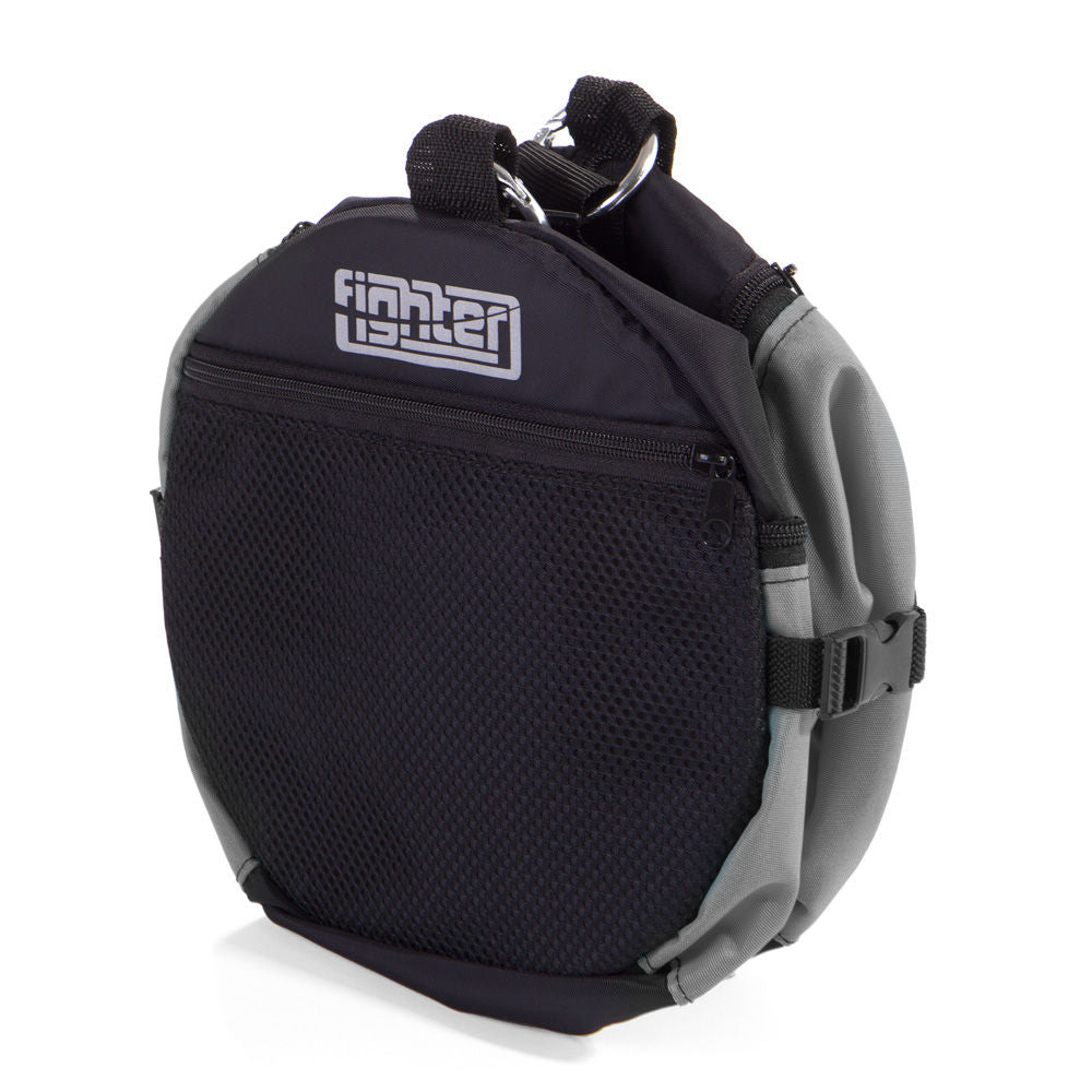 Fighter Round Shoulder Bag - black/grey