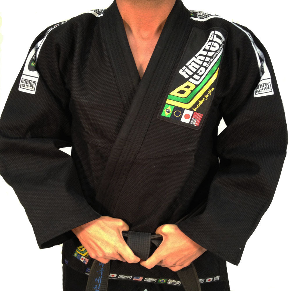 Brazilian Jiu Jitsu FIGHTER Uniform Black