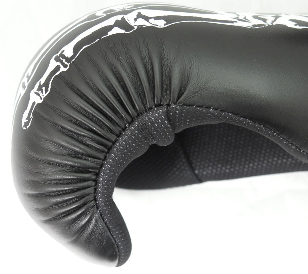 Top Ten SKELETON Black/White Point Fighter Open Gloves